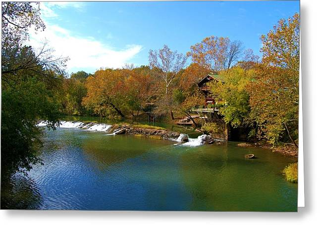 Greeting Card featuring the photograph The Grist Big River by Peggy Franz
