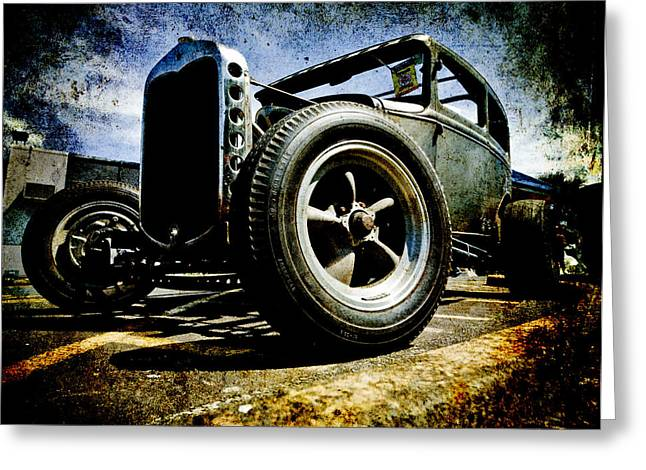 The Grunge Rod Greeting Card by Phil 'motography' Clark