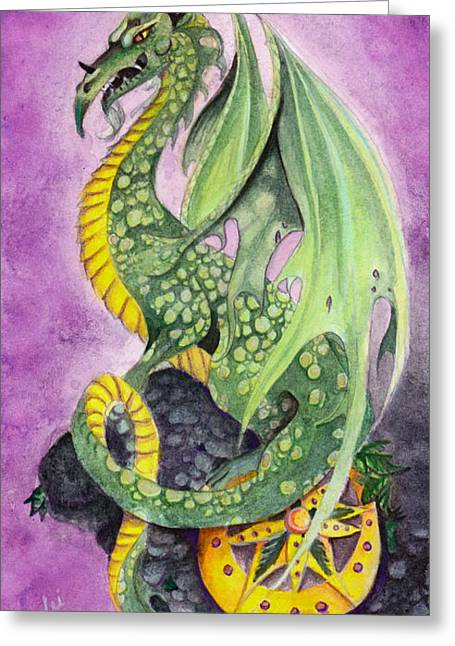 The Guardian Greeting Card by Lorelei  Marie