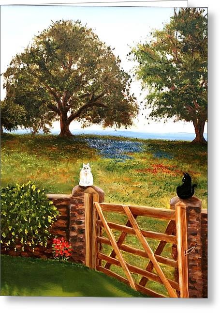 The Guardians Greeting Card by Patti Gordon