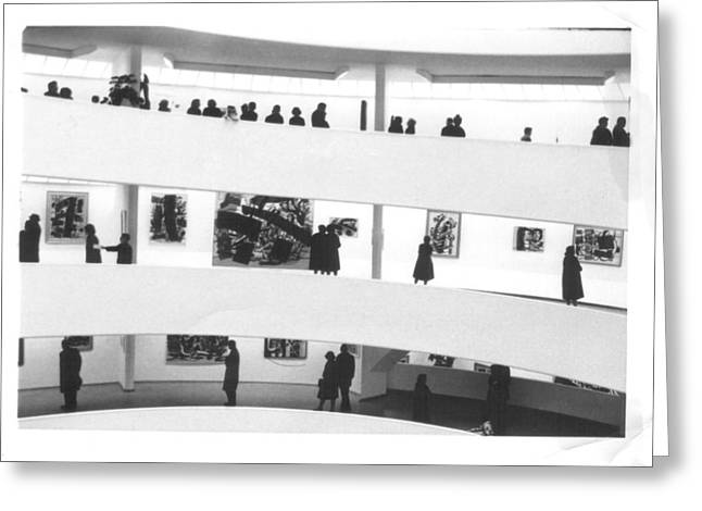 The Guggenheim Museum In New York City Greeting Card by Don Struke