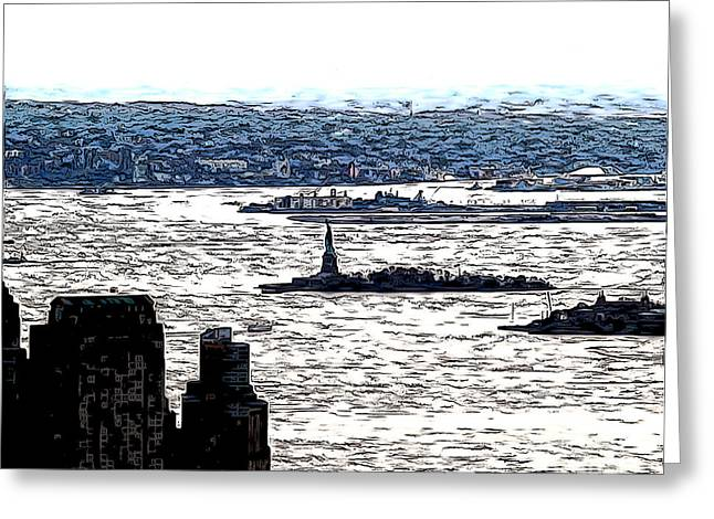 The Harbor Greeting Card by Anne Raczkowski