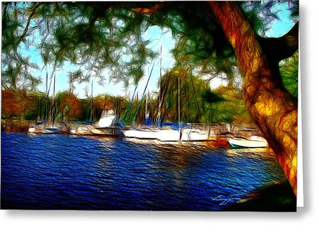 The Harbor Greeting Card by Barry Jones