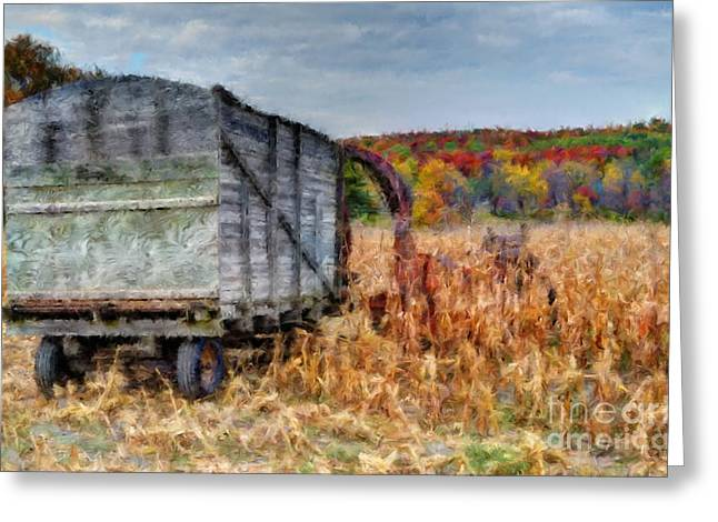 The Harvester Greeting Card by Michael Garyet