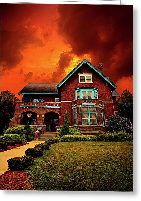 The Haunted Brumder Mansion Greeting Card by Phil Koch