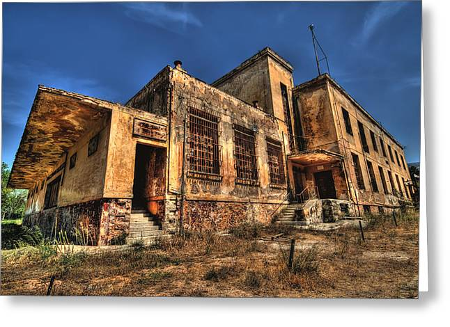 The Haunted Factory Greeting Card by Stamatis Gr