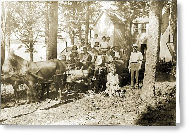 The Hayride Greeting Card by Jan W Faul