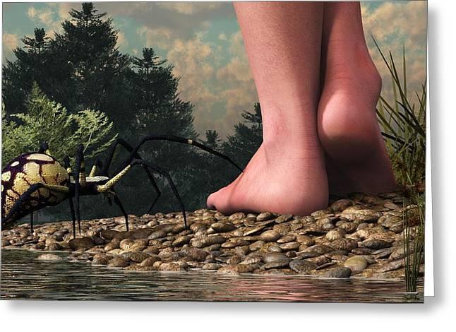 The Hazards Of Barefoot Hiking Greeting Card by Daniel Eskridge