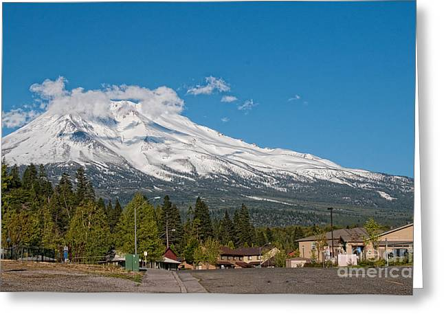 The Heart Of Mount Shasta Greeting Card by Carol Ailles