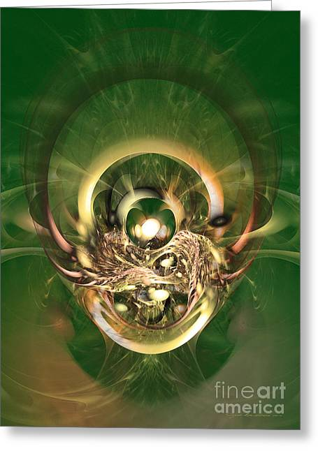 The Hidden Ancestor - Abstract Digital Art Greeting Card by Sipo Liimatainen
