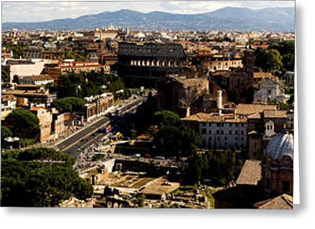 The Historic Centre Of Rome Greeting Card by Fabrizio Troiani