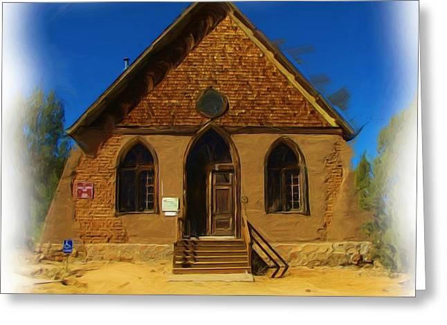 The Historic Hearst Church Greeting Card by FeVa  Fotos