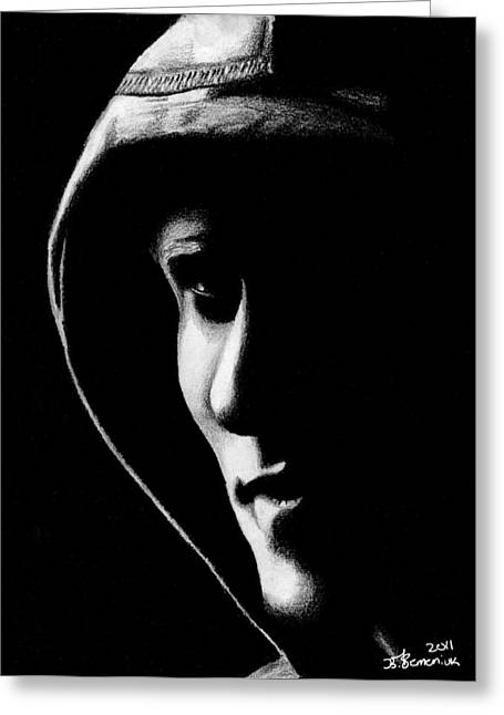 The Hooded Figure Greeting Card by Kayleigh Semeniuk
