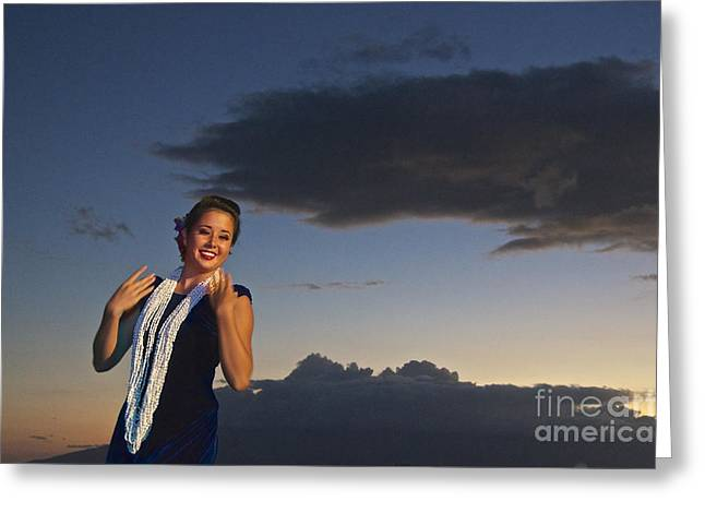 The Hula Dancer Greeting Card