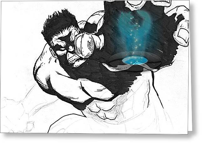 The Hulk 2 Greeting Card by Hossam Fox