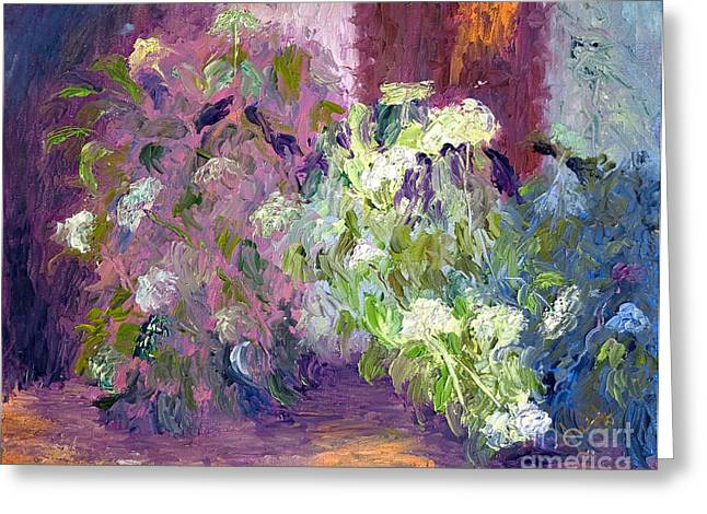 The Hydrangeas Greeting Card by Patricia Huff