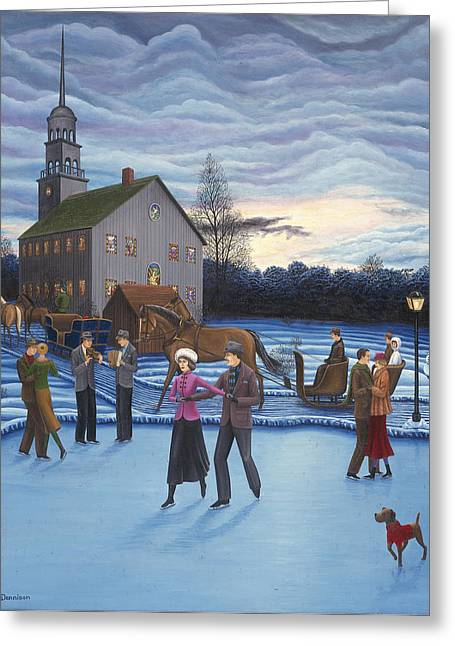 The Ice Skaters Greeting Card