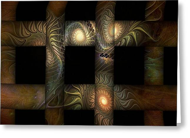 Greeting Card featuring the digital art The Indomitability Of The Idea by Casey Kotas