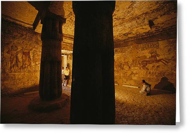 The Interior Of The Tomb Of Meryre Greeting Card by Kenneth Garrett