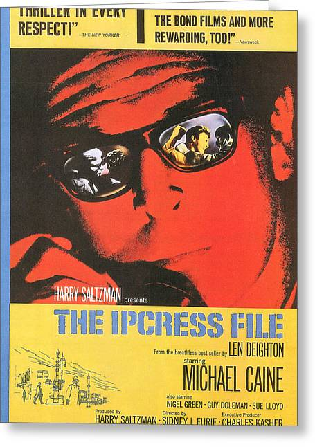 The Ipcress File Greeting Card by Georgia Fowler