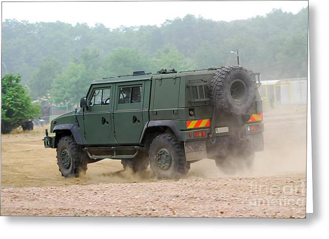 The Iveco Light Multirole Vehicle Greeting Card by Luc De Jaeger
