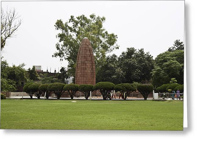 Greeting Card featuring the photograph The Jallianwala Bagh Memorial In Amritsar by Ashish Agarwal