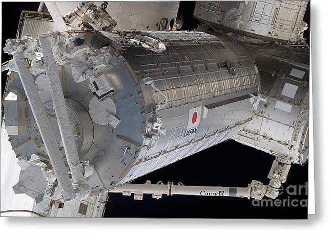 The Japanese Pressurized Module, The Greeting Card by Stocktrek Images