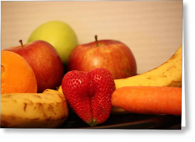 The Joy Of Fruit At Bedtime Greeting Card by Andrea Nicosia