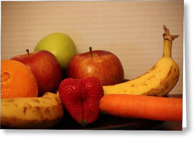 The Joy Of Fruit At Supper Greeting Card by Andrea Nicosia