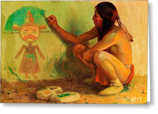 The Kachina Painter Greeting Card