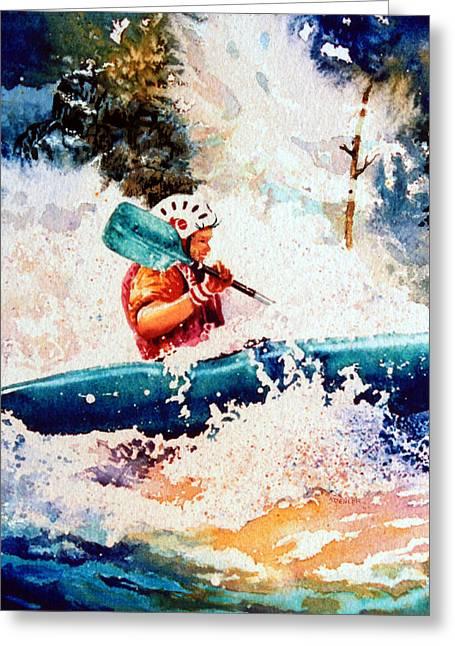 The Kayak Racer 18 Greeting Card by Hanne Lore Koehler