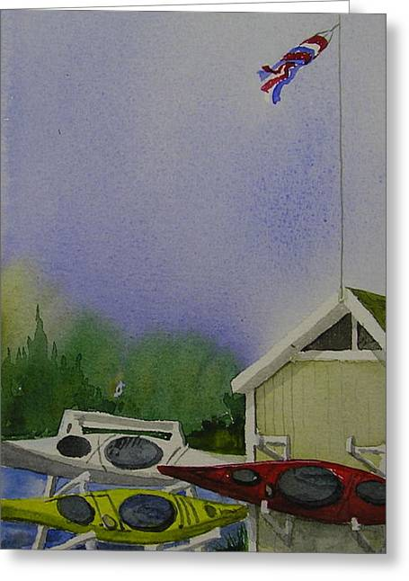 The Kayak Shak 1 Greeting Card by Judi Nyerges