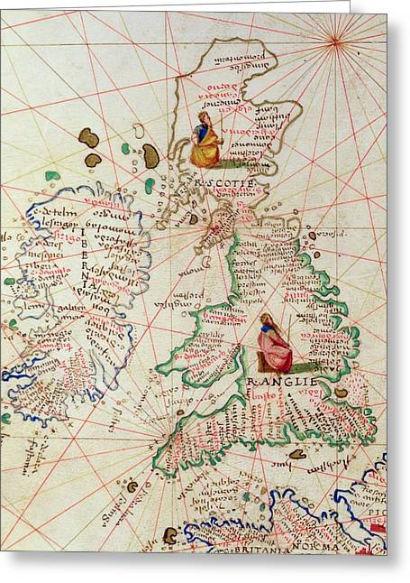 The Kingdoms Of England And Scotland Greeting Card