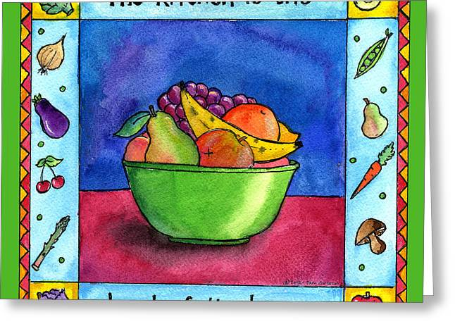 The Kitchen Is The Heart Of The Home Greeting Card by Pamela  Corwin