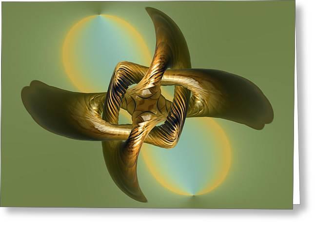 The Knot Greeting Card by Deborah Benoit