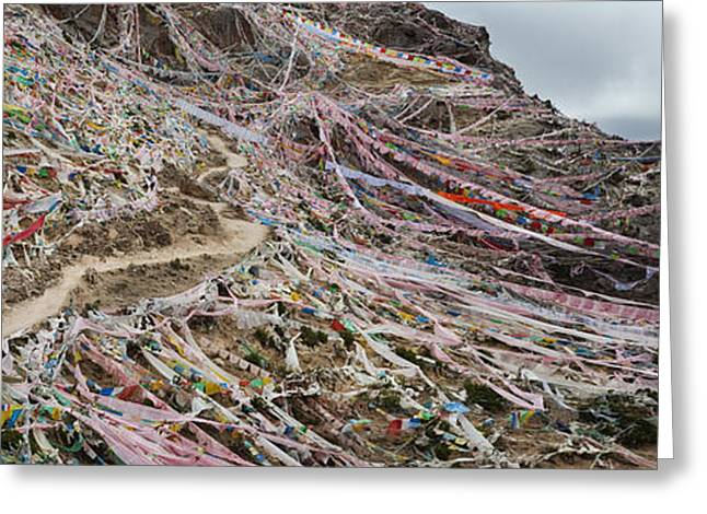 Tibetan Buddhism Greeting Cards - The Kora Or Pilgrimage Route Greeting Card by Phil Borges