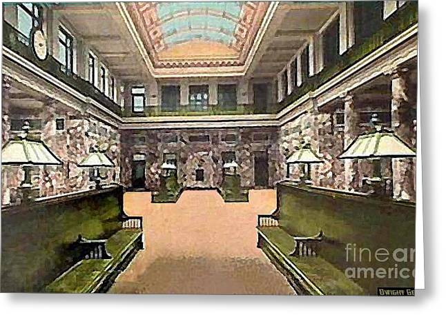 The Lackawanna Train Station In Scranton Pa In 1914 Greeting Card