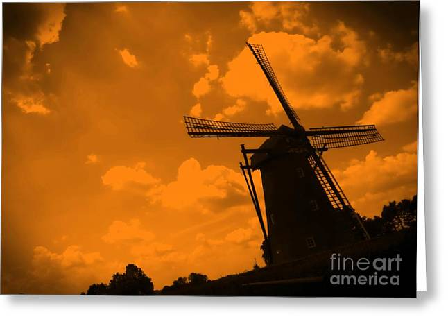 The Land Of Orange Greeting Card by Carol Groenen