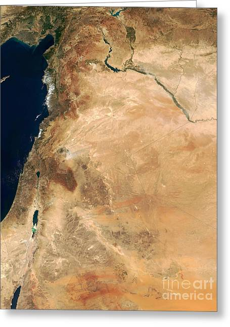 The Lands Of Israel Along The Eastern Greeting Card by Stocktrek Images