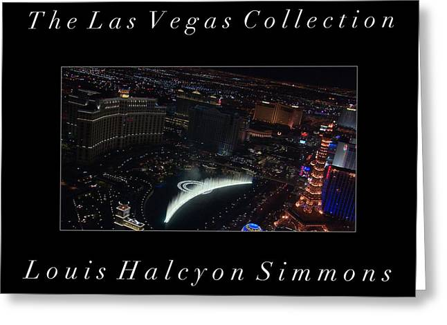 The Las Vegas Collection Greeting Card by Louis Simmons