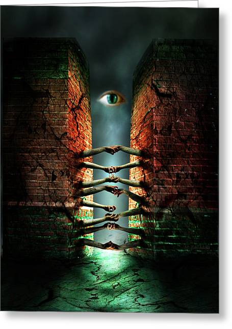 Greeting Card featuring the photograph The Last Gate by Mariusz Zawadzki