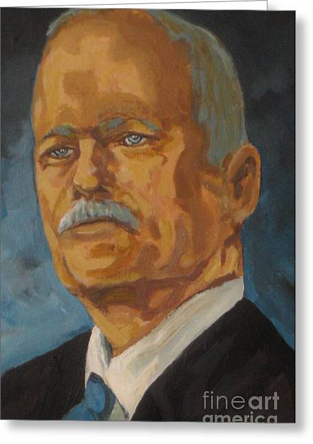 The Late Honorable Jack Layton Greeting Card by John Malone