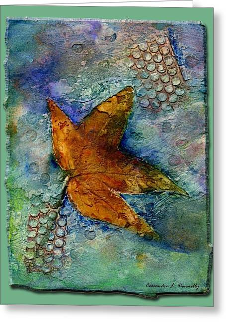 The Leaf That Does Not Wither. Greeting Card by Cassandra Donnelly