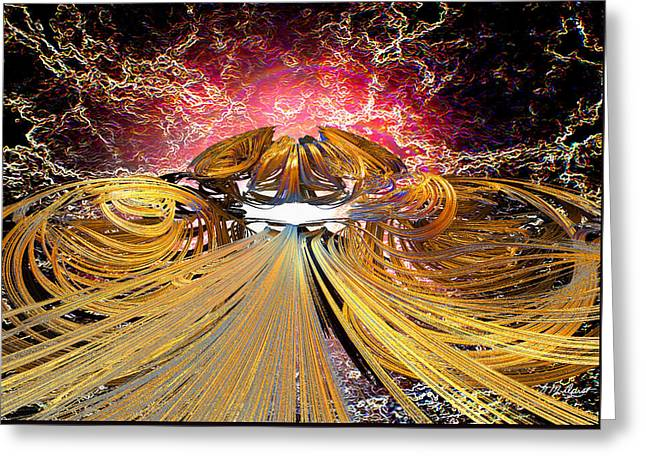 The Light At The End Of The Tunnel Greeting Card by Michael Durst