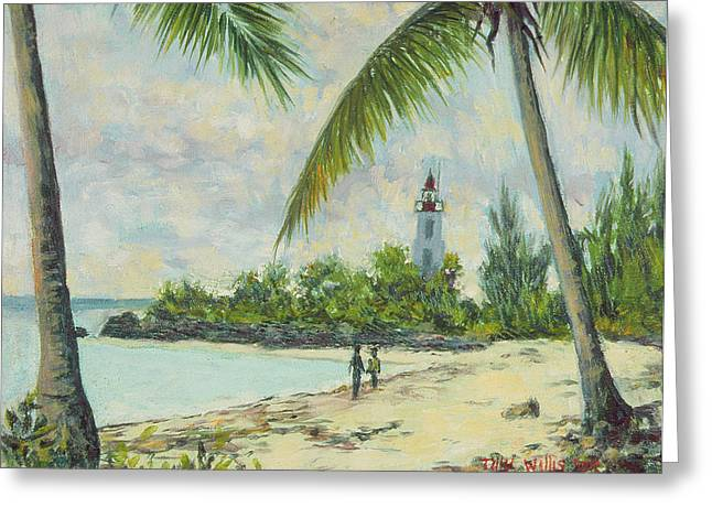 The Lighthouse - Zanzibar Greeting Card by Tilly Willis