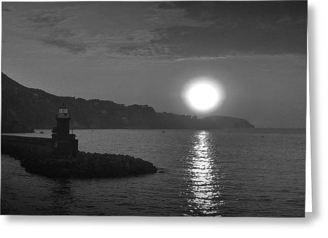 The Lighthouse Greeting Card by Gianluca Sommella
