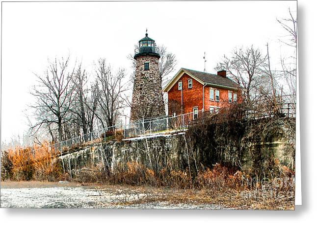 The Lighthouse Greeting Card by Ken Marsh