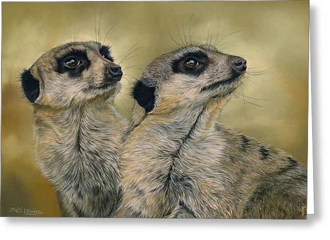 The Likely Lads Greeting Card by Bev Lewis