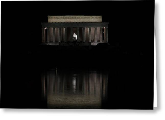 The Lincoln Memorial Greeting Card by Kim Hojnacki