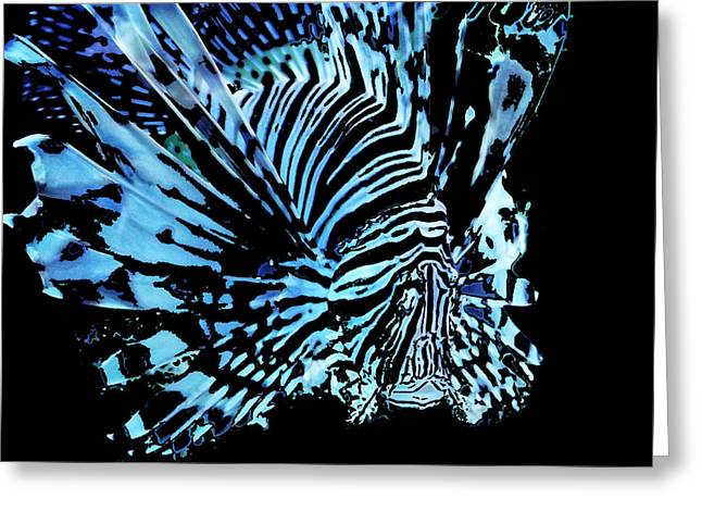 The Lionfish 2 Greeting Card by Robin Hewitt